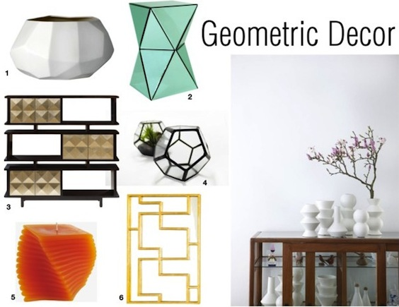 30 Geometric Home Decor Ideas You Will Love The Look 1 Amara Ceramic Vase 2 Roman Green Side Table 3