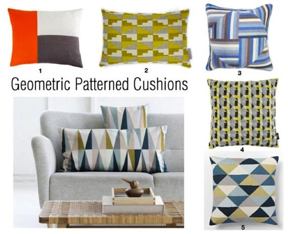 Geometric Pattern Cushions - only ella