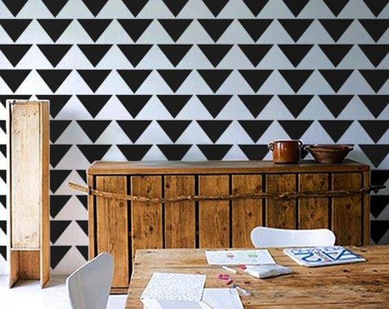 geometric wall stencil