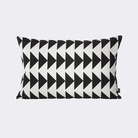Ferm Living Black and White arrow cushion