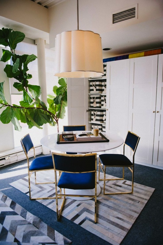 gold dining chairs