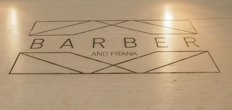 Barber and Frank sign