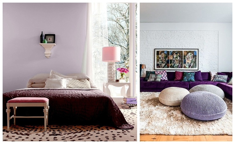 Purple Bed and Pouf