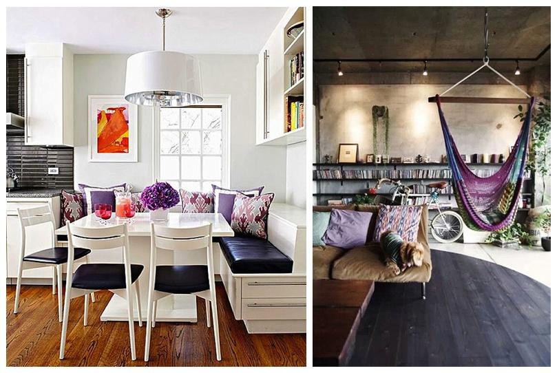 Purple Kitchen and Hammock