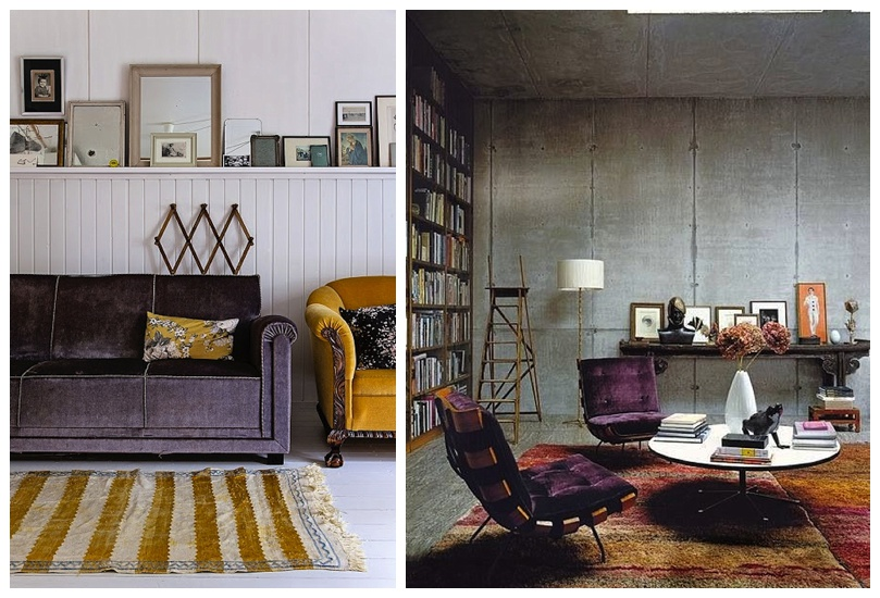Purple Sofa and Chairs