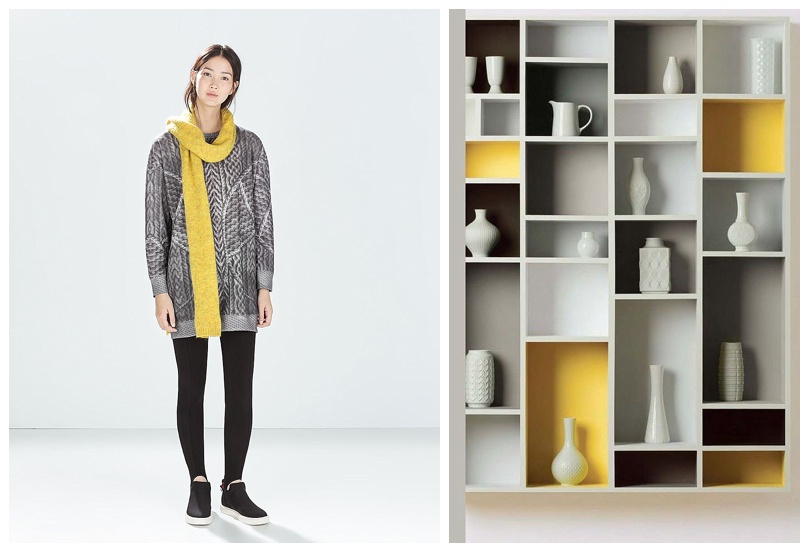 Fashion Meets Decor Yellow and Grey