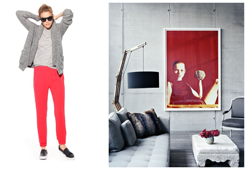 Fashion Meets Decor - grey and red