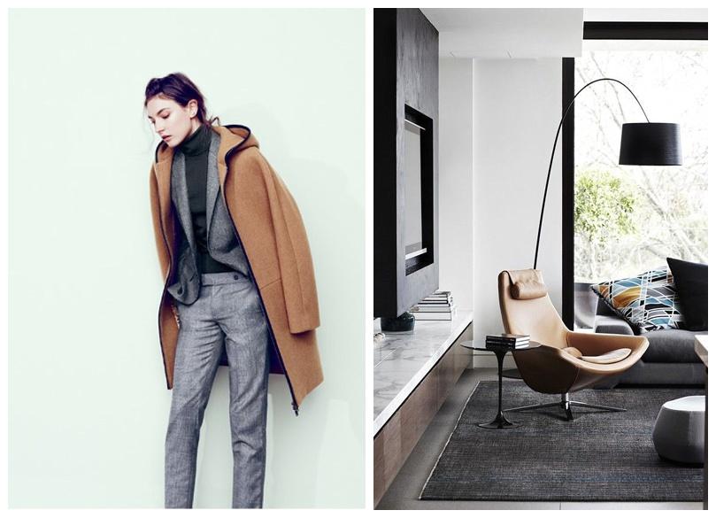 Fashion Meets Decor - tan and grey