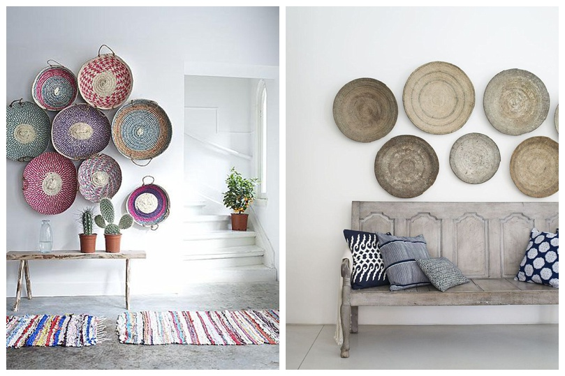 Wall Decor Using Baskets : Alternative wall decor flat