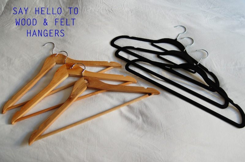 Say hello to wood and felt hangers