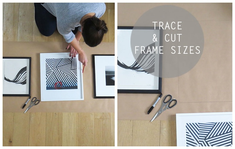 Trace and cut frame size