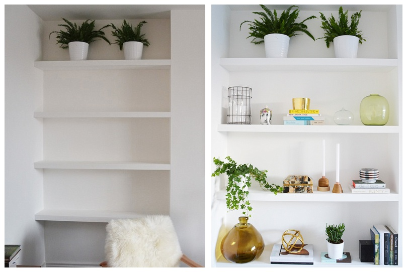 shelving before and after