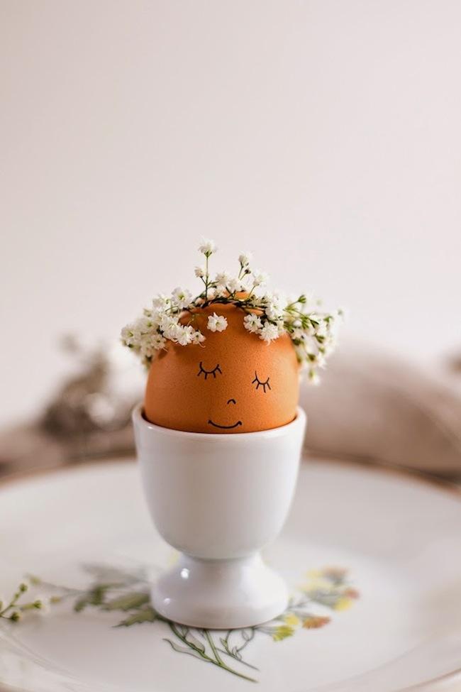 flower crown easter eggs