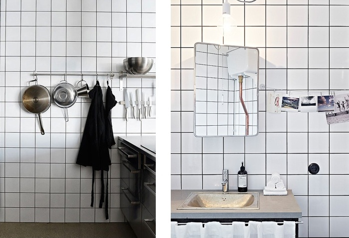 White Square Tile Bathroom delighful white square tile bathroom floor to ceiling marble tiles