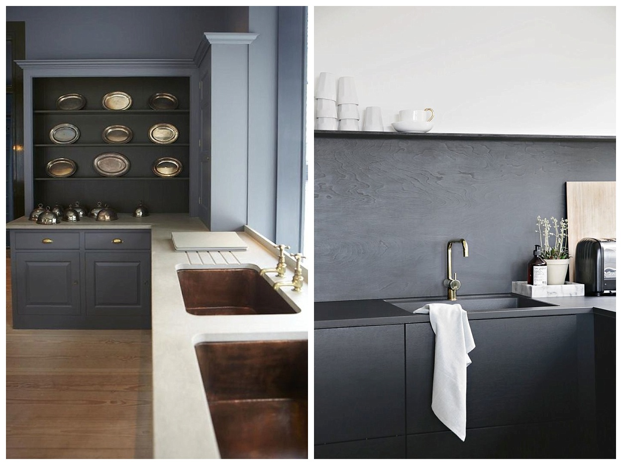 Sophisticated Kitchen  I always love a bright clean kitchen but check out  these kitchens with darker grey tones. Such a classic yet chic alternative  to ...