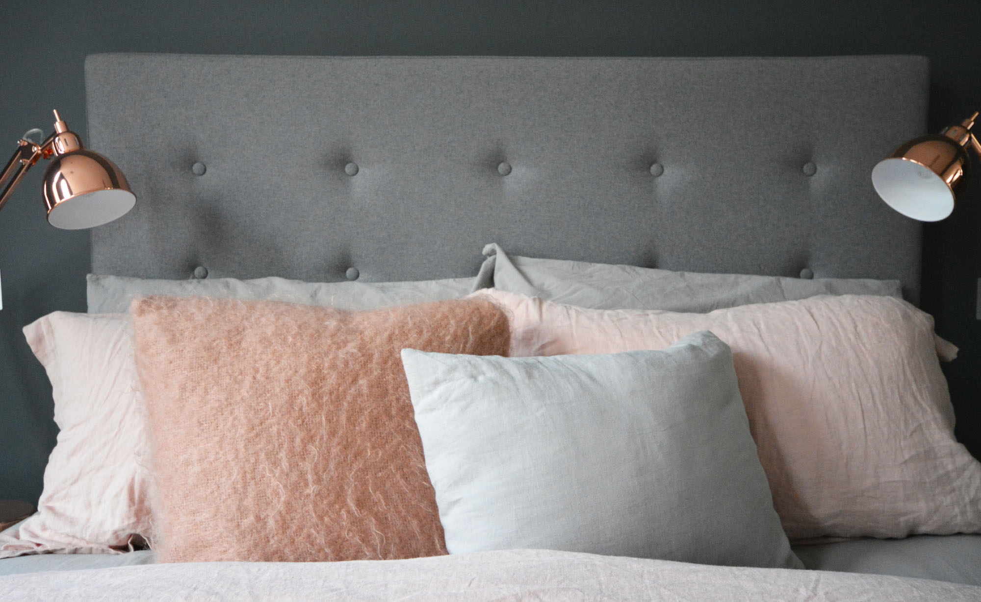 Bedroom Makeover Grey Copper Pink Flat 15 Design