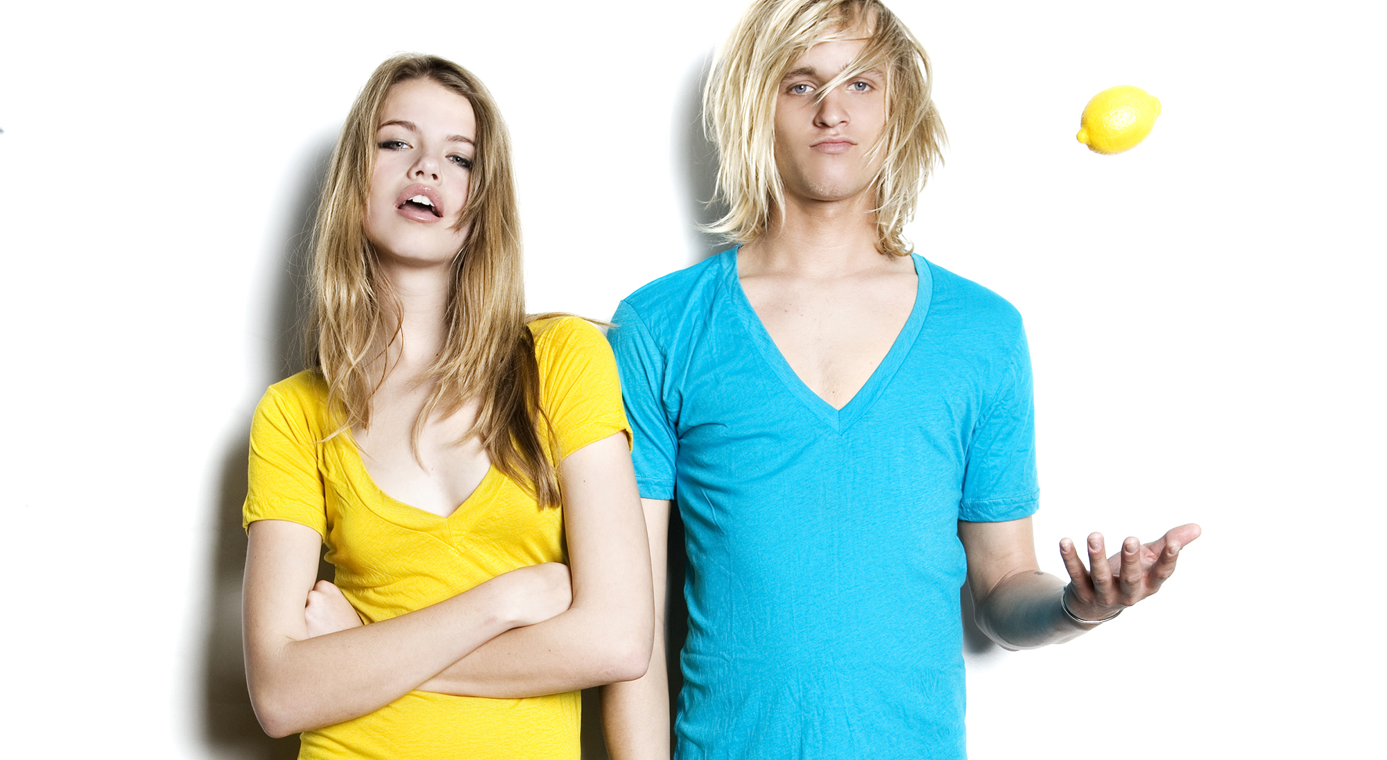 Hailey Clauson and Max Ville for LNA. Photo by STUDIO 1208