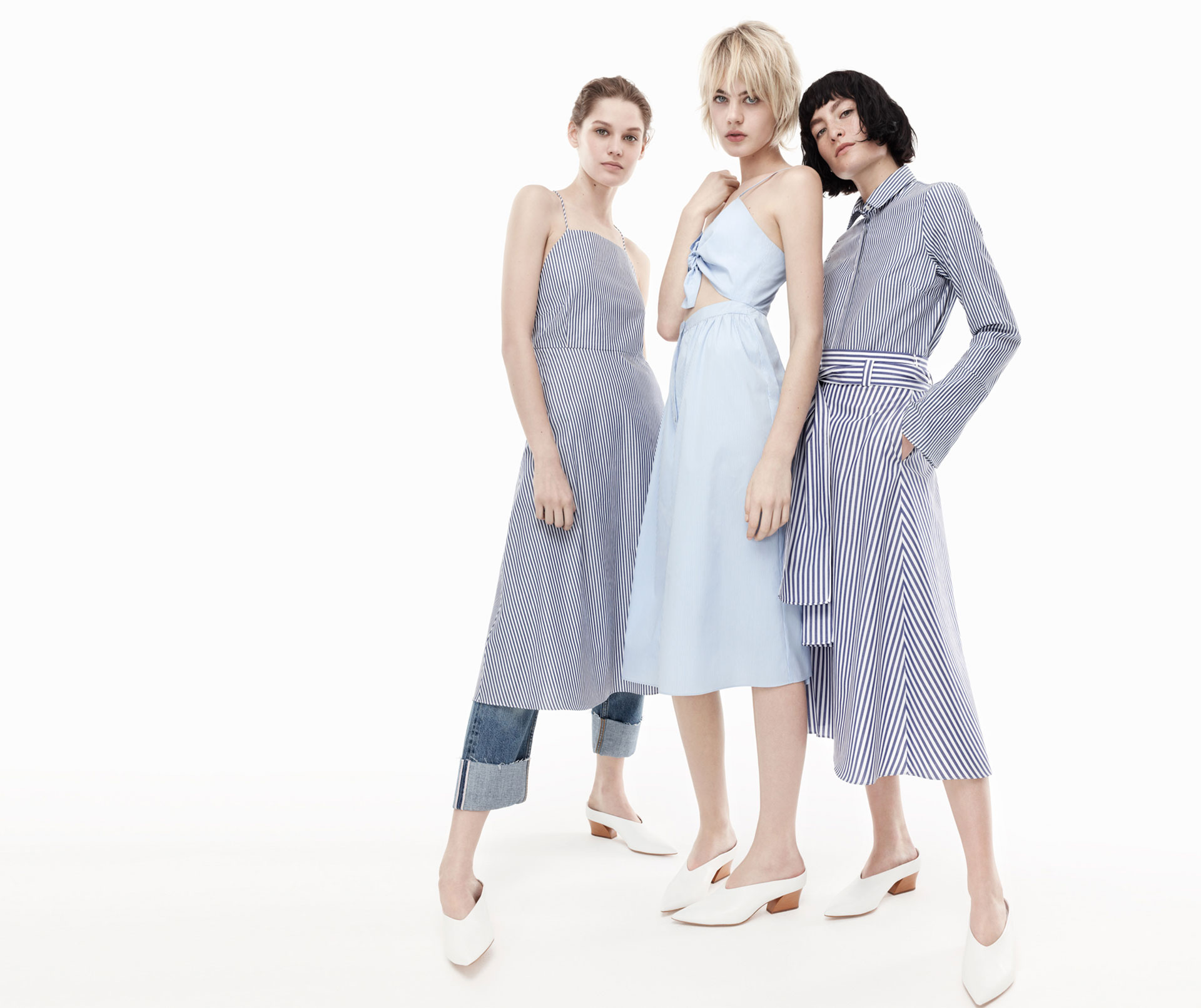 Zara Blue Striped Dress