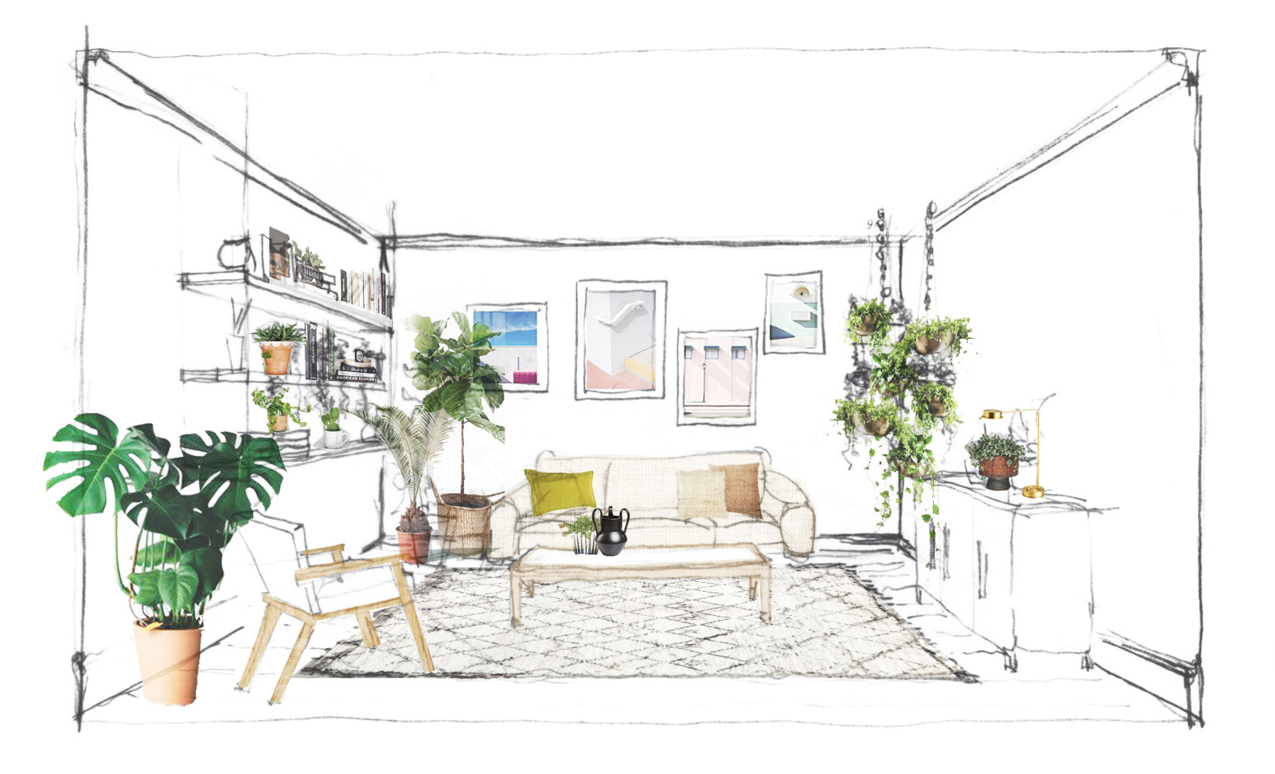 FLAT 15 Styled Room-Room Sketch