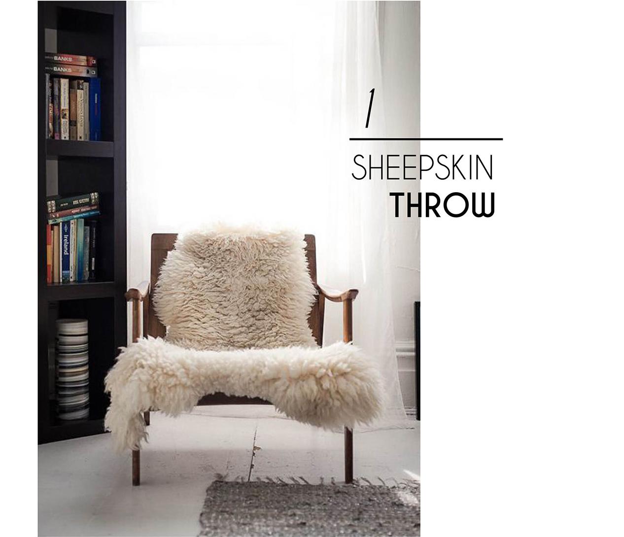 chic interior style sheepskin