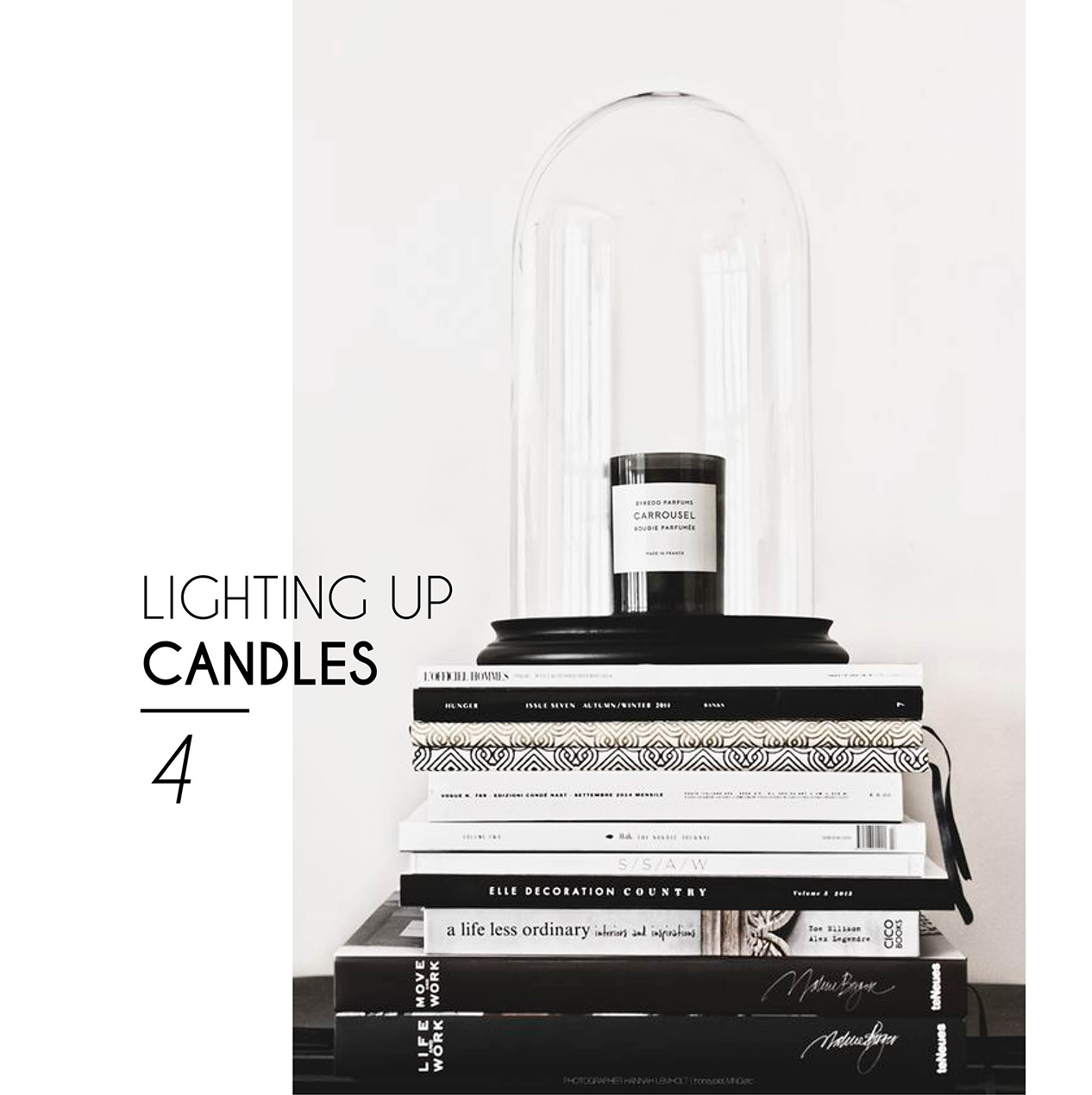 chic interior style candles