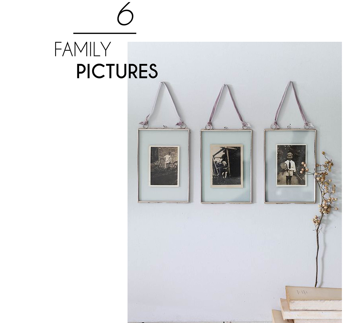 chic interior style family pictures photo frame