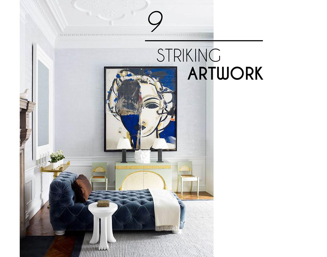 chic interior style artwork